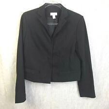 Ann Taylor Loft Black Blazer Women;s Size 6 Wool Blend Career Suit Jacket