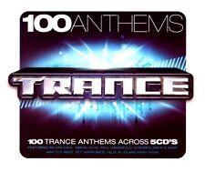 100 ANTHEMS TRANCE - 5 X UNMIXED CDS 100 TRACKS !! IBIZA TRANCE CDJ CD DJ