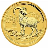 2015 Year of the Goat 1/4oz .9999 Gold Bullion Coin - Lunar Series II - PM