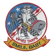 "US NAVY VF-102 TOMCAT Fighter Squadron Military Patch TARPS ""SMILE, BABY"""