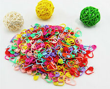 100Pcs  Knitting Crochet Craft Locking Stitch Needle Clip Markers Holder 8 Color