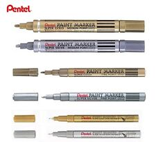 Pentel Paint Marker Gold Silver Broad Extra Fine Point Permanent Opaque Surfaces