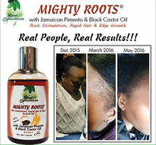Fast hair growth mighty roots edge growth oil with Jamaican pimento & black cast