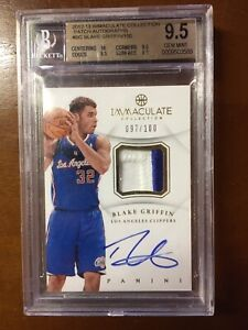 2012-13 Immaculate Collection Blake Griffin Patch Autographs /100 BGS 9.5 Mint