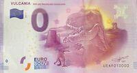 BILLET 0  EURO  VULCANIA DINOSAURES FRANCE  2017 NUMERO 10000 DERNIER BILLET