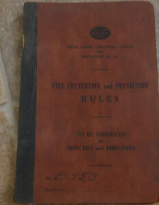 New York Central Lines Prevention & Protection Rules Book 1950s Railroad Trains