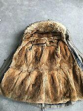 RRP€1000 VIOLANTI parker Coat Size 42 / S Detachable Raccoon Fur gilet
