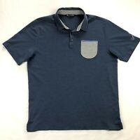 Travis Mathew Mens Large Blue Short Sleeve Pocket Golf Polo Shirt