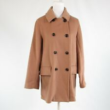 Light brown wool blend GAP double breasted long sleeve peacoat M