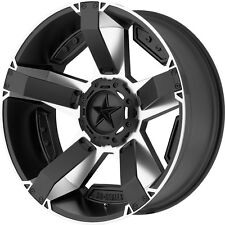 "20 Inch Silver Black Wheels Rims GMC Sierra Rockstar 2 XD811 20x9"" 8x180 Set 4"