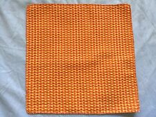 ORANGE & YELLOW Waffle Texture Plaid Check POCKET SQUARE