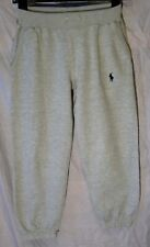 New listing Boys Ralph Lauren Light Grey Marl Cuffed Tracksuit Bottoms Joggers Age 7-8 Years