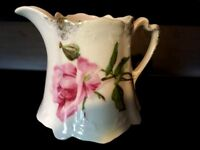 Creamer Antique EUC Floral Porcelain Collectible Pink Floral Green Vintage EUC