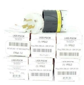 LOT OF 6 NIB LEGRAND L620-PGCM GROUND INDICATION PLUGS 20A 250VAC, L620PGCM