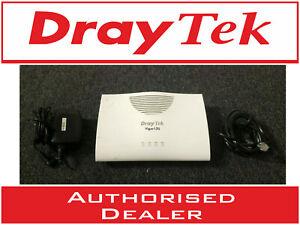 DrayTek Vigor 130 ADSL/VDSL2 Internet Ethernet Modem + PSU + RJ11 - BT FTTC VGC