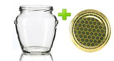 30 vasi vasetti vetro forma orcio per miele da cc 212 con tappo capsula alveare