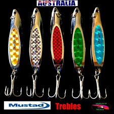 5 Fishing Lure Metal Slice Spoon Spinner Slugs Tackle Mackeral Tailor Lures