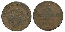 pcc943_3) LOMBARDO VENETO 5 CENTESIMI 1852 VENEZIA FRANCESCO GIUSEPPE I