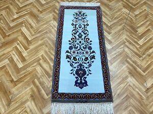 Orientteppich Perserteppich Teppich  Isfahan mit Seide auf Seide 130x60 Signiert