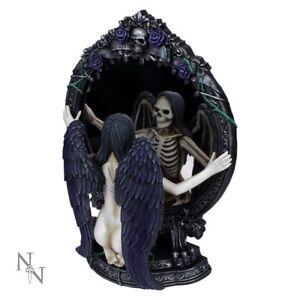 FATES REFLECTION 33cm Dark Angel Figurine Statue Mirror Nemesis Now - FREE P+P