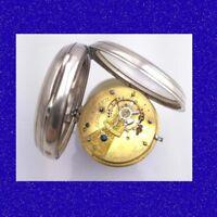 Stunning Silver Davies of Carmarthen & Neath Welsh Fusee Pocket Watch 1891