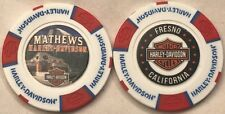Mathews Harley-Davidson® in Fresno, CA Collector Poker Chip White/Red/Blue NEW