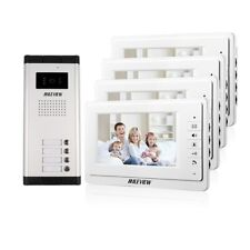 "Big Sale 7"" Video Intercom Door Phone System 700TVL IR Camera for 4 Apartment"