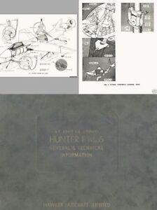 HAWKER HUNTER F6 1950's Service Manual rare historic archive Cold War Jet RAF