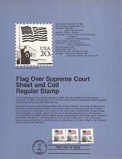 20c FLAG SHEET & COIL 1981 SOUVENIR PAGE SCOTT # 1894-1895 SP535 FLAGS