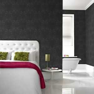 Floral Black Wallpaper Per Roll (Free Delivery)