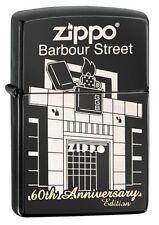 Zippo 28790, 60th Anniversary-Barbour Street, Black Ebony Finish Lighter