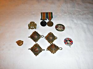 FOR THE COLLECTOR OF MILITARIA SCOUTS OR GIRL GUIDES A SMALL LOT CAP BADGES ETC