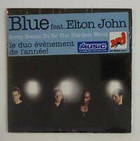 BLUE feat. ELTON JOHN : SORRY SEEMS TO BE THE HARDEST WORD ♦ CD Single NEUF ♦