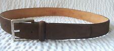 Authentic Loewe Madrid Brown Suede Ladies Belt Size 46/85