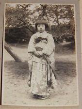 PHOTOGRAPHIE ANCIENNE ORIGINALE ARGENTIQUE Enfant en Kimono  JAPON 1934