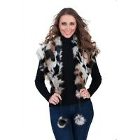 New Ladies Fashion Winter Faux Fur Shoulder Wrap Shawl Stole Collar Scarf Lined