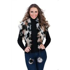 New Ladies Fashion Winter Faux Fur Shoulder Wrap Shawl Stole Collar Scarf Lined
