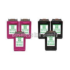 6 PACK HP 60XL Reman ink cartridges CC641WN CC644WN HP60XL HP 60 XL HP 60XL