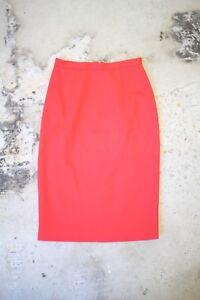 Ginger & Smart: Ladies Red Midi Skirt, Size 8