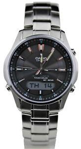 Casio Herren Uhr LCW-M100DSE-1AER Funkuhr Solar Edelstahl Schwarz Saphirglas