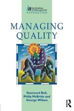Managing Quality (Institute of Management Diploma),Desmond Bell