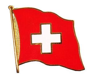 Flaggen Pin Schweiz ca. 20 mm Anstecker Anstecknadel Fahnenpin