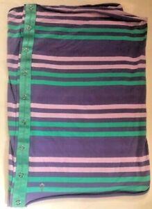 Ivivva by  Lululemon Girls Village Chill Scarf Purple Green Pink Stripes w Snaps