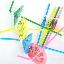 20Pc Novelty Utility Party Decor Paper Parasol Umbrella Cocktail Drinking Straws