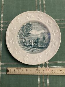 Victorian children's plate from Moore & Co pottery in Sunderland. 1860-80