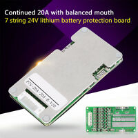 24V 20A 7S 18650 Cells + Balancing Li-ion Lithium Battery BMS Protection Board D