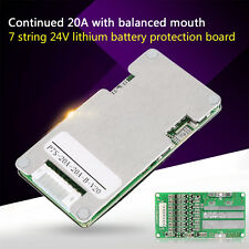 24V 20A 7S Lithium Li-ion LiFePO4 Battery BMS Protection Board with Balancing