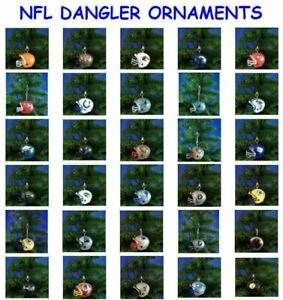 NFL HELMET DANGLER ORNAMENT DECORATION LICENSED GUMBALL FOOTBALL - YOU PICK TEAM