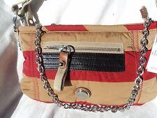Kipling Game On Red Stripe Shoulder Handbag