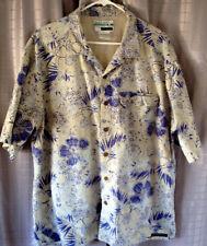 Buzz Off Insect Shield Apparel Men's Tropical Print Shirt Size XL/XG Ex-Officio
